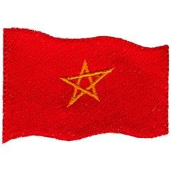 Morocco Flag embroidery design
