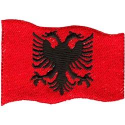 Albania Flag embroidery design