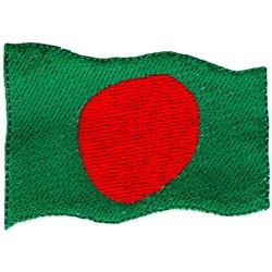 Bangladesh Flag embroidery design