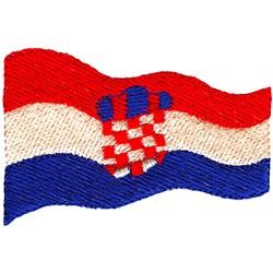 Croatia Flag embroidery design