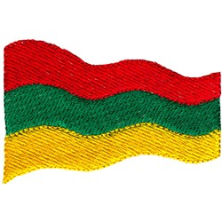 Lithuania Flag embroidery design