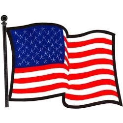 Applique U.S. Flag embroidery design