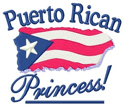 Puerto Rican Princess embroidery design