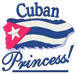 Cuban Princess embroidery design