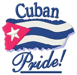 Cuban Pride embroidery design