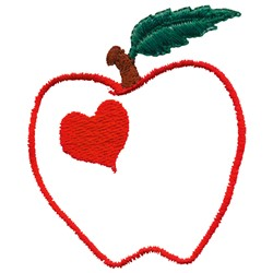 Love Apple Applique embroidery design