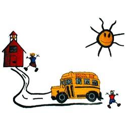 School Scene embroidery design