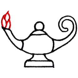 Lamp of Knowledge embroidery design