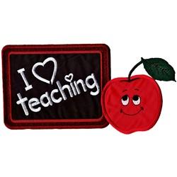 Love Teaching Applique embroidery design