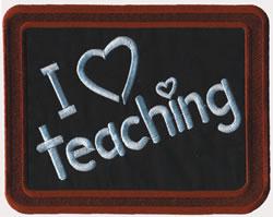 Blackboard embroidery design