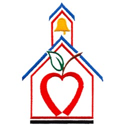 Abstract Schoolhouse embroidery design