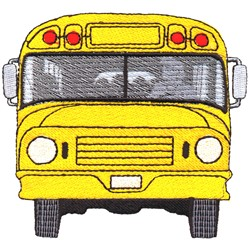 School Bus Front embroidery design