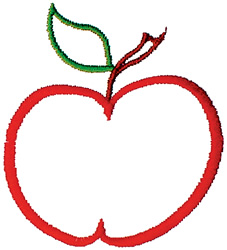 Smiley Apple embroidery design