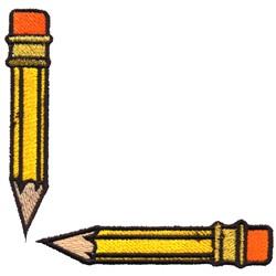 Pencil Corner embroidery design