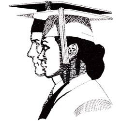 Graduating Students embroidery design