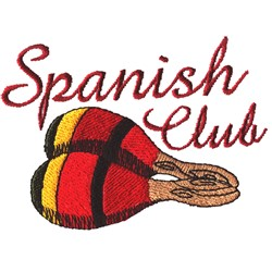 Spanish Club embroidery design
