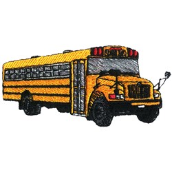 Small School Bus embroidery design