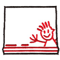 Chalk Box Outline embroidery design