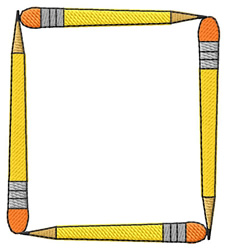 Pencil Frame embroidery design