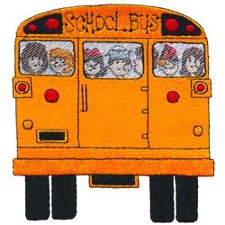 School Bus Rear embroidery design
