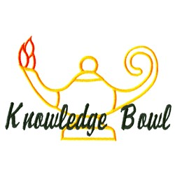 Knowledge Bowl embroidery design