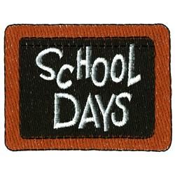School Days embroidery design