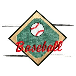 Baseball Diamond embroidery design