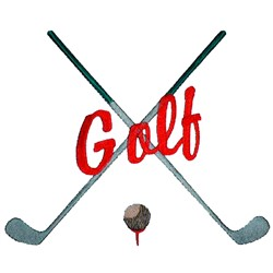 Golf Text embroidery design