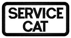 Service Cat embroidery design