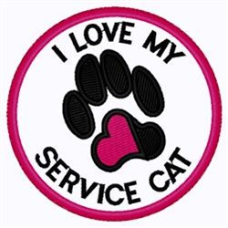My Service Cat embroidery design