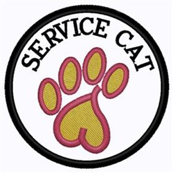 Service Cat embroidery design