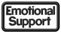 Emotional Support Label embroidery design