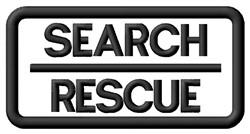 Search & Rescue Label embroidery design