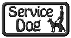 Service Dog Label embroidery design