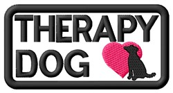 Therapy Dog Label embroidery design