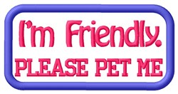 Friendly Dog Patch embroidery design