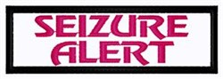 Seizure Alert Patch embroidery design