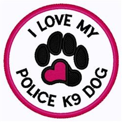 Police K9 Patch embroidery design