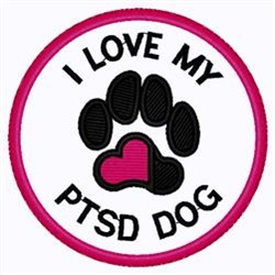 PTSD Dog Patch embroidery design