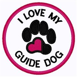 Guide Dog Patch embroidery design