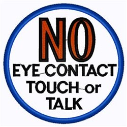 No Contact Patch embroidery design
