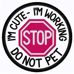 Stop Patch embroidery design