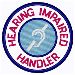 Hearing Impaired Handler Patch embroidery design