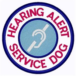 Hearing Alert Patch embroidery design