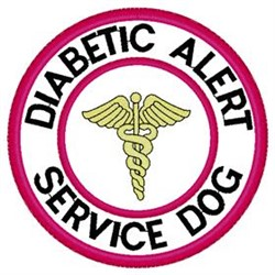 Diabetic Alert Patch embroidery design