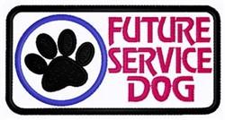 Future Service Dog Patch embroidery design