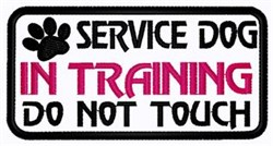 In Training Patch embroidery design