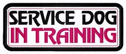 Dog In Training Patch embroidery design