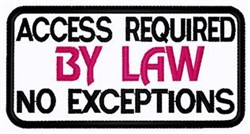 No Exceptions Patch embroidery design