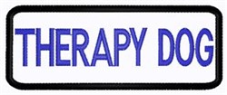 Therapy Dog Patch embroidery design